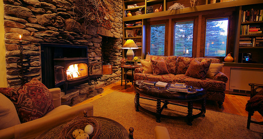 Tour our mountain cabin rental in Vermont with views of the Green Mountains